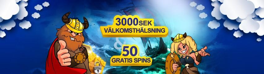 Konung Casino 100% upp till 5 000 kr