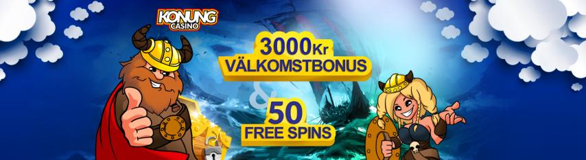 Konung Casino 115 free spins i casinobonus