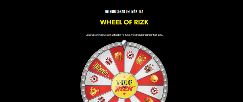 Rizk nätcasino Wheel of Rizk