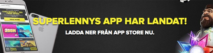 SuperLenny nätcasino app