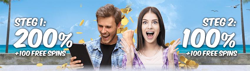 Vera&John Nätcasinos välkomstpaket ger dig 200 freespins