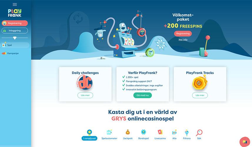 PlayFrank Nätcasino