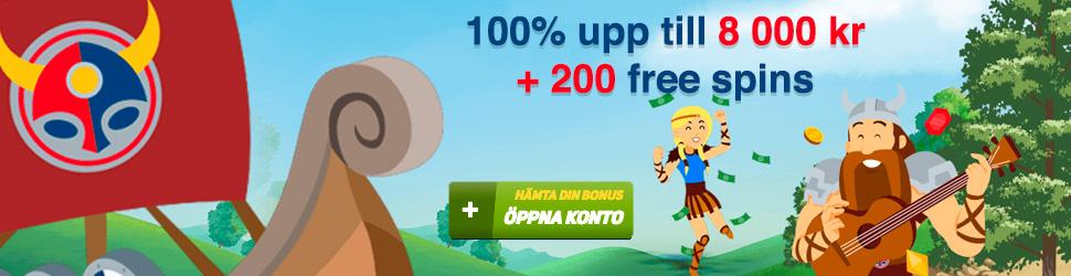 Scandibet nätcasino 100% bonus upp till 8000 kr