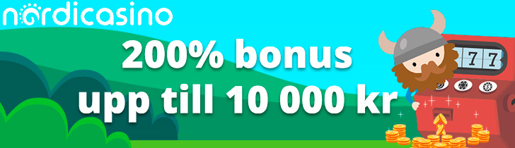 Nordicasino välkomstpaket ger dig upp till 10 000 kronor