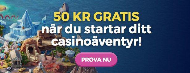 50 kronor gratis hos CasinoHeroes