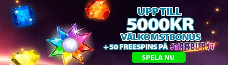 CoinFalls nätcasino välkomstbonus upp till 5000 kronor och 50 free spins