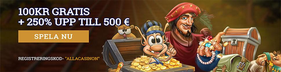 OrientXpress nätcasino no deposit bonus - få 100 kronor gratis utan insättning och upp till5 000 SEK!