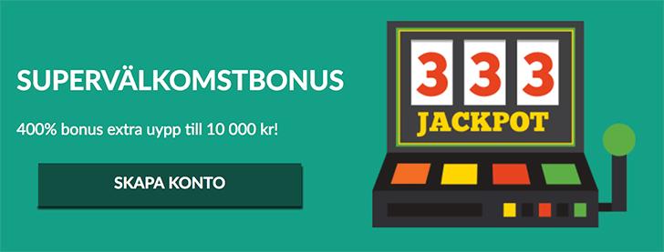 Casino Superlines bonus - få 400% bonus upp till 10 000 kr i insättningsbonus!