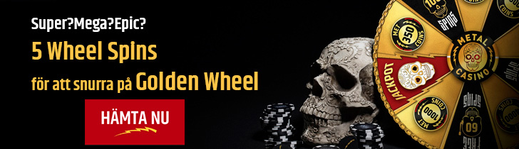 Metal casino Golden Wheel jackpot