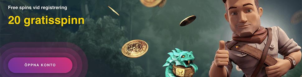 Buran Casino no deposit bonus - 20 gratisspinn vid registrering