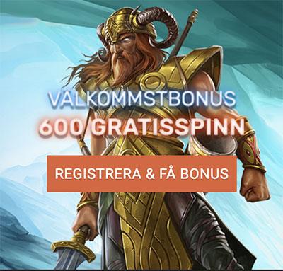 QB Casino 600 gratisspinn