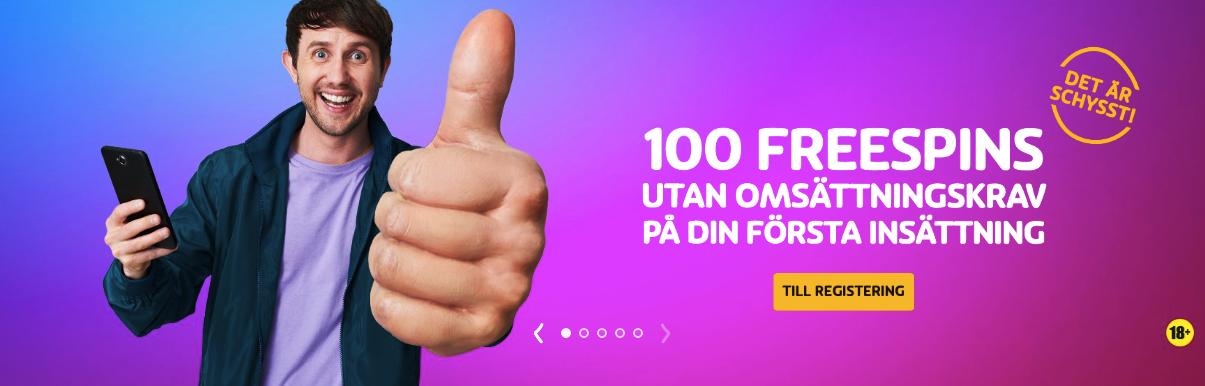 PlayOJO nätcasino ger dig upp till 100 free spins 100% omsättningsfritt
