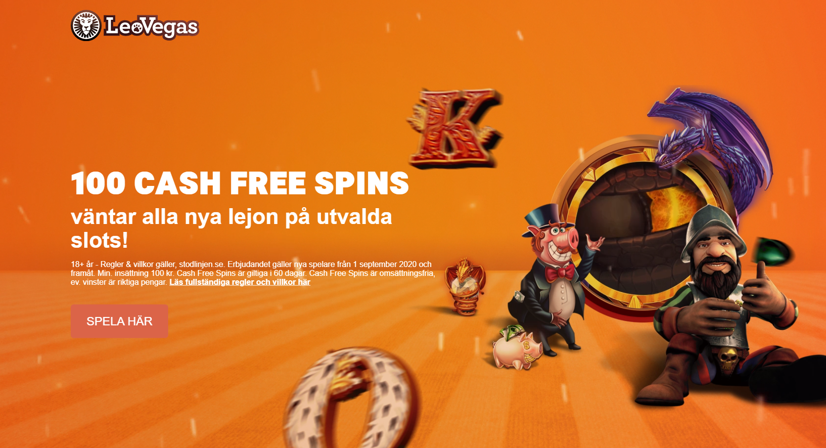 Leovegas casino bonus - 100 cash free spins utan omsättningskrav i välkomstbonus!